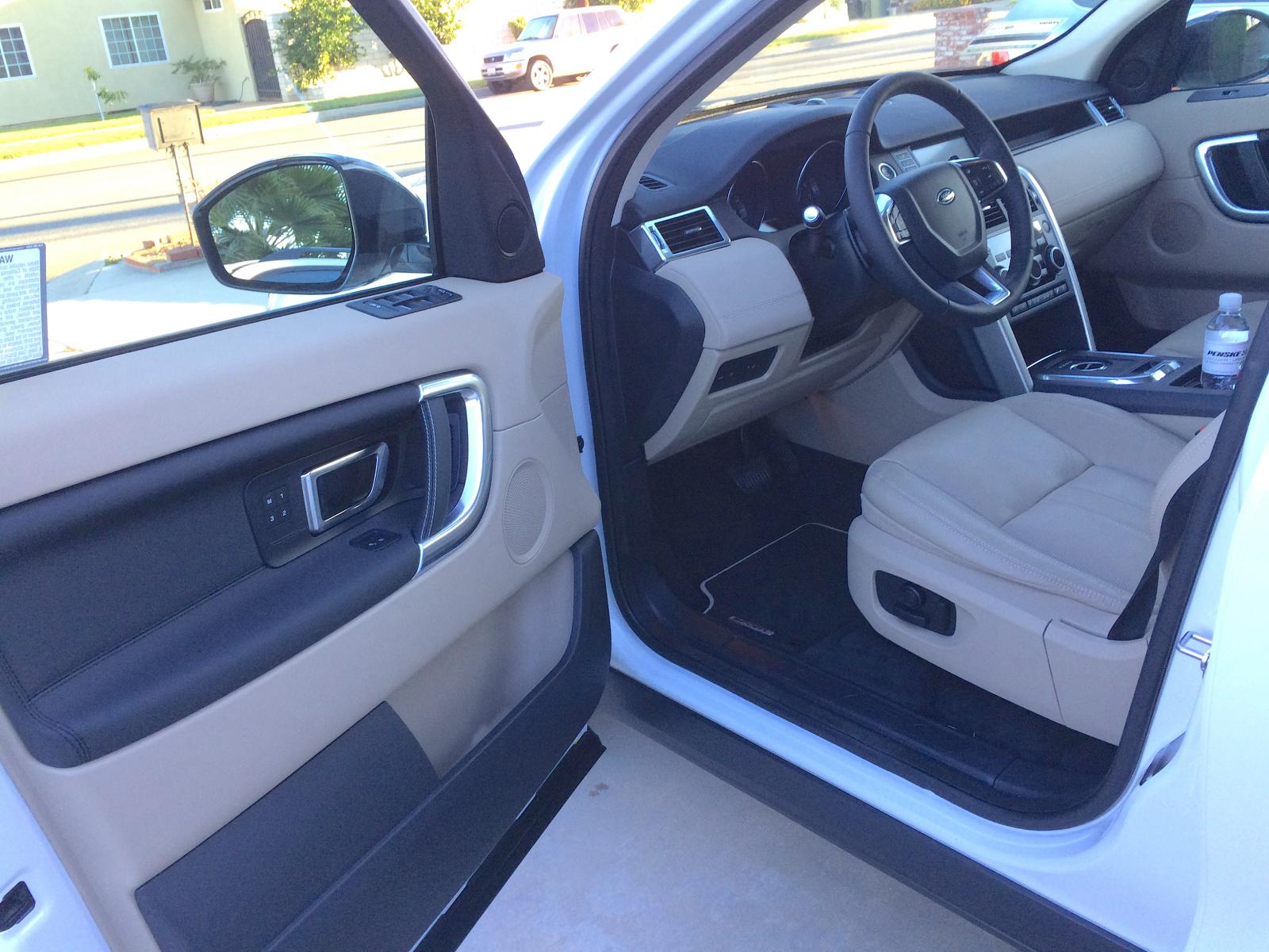 new 2016 discovery sport hse white tan she is a beaut land rover discovery sport forum. Black Bedroom Furniture Sets. Home Design Ideas