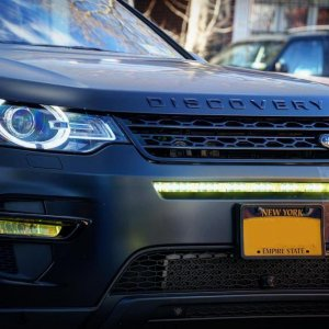 hidden LED light bar in grill
